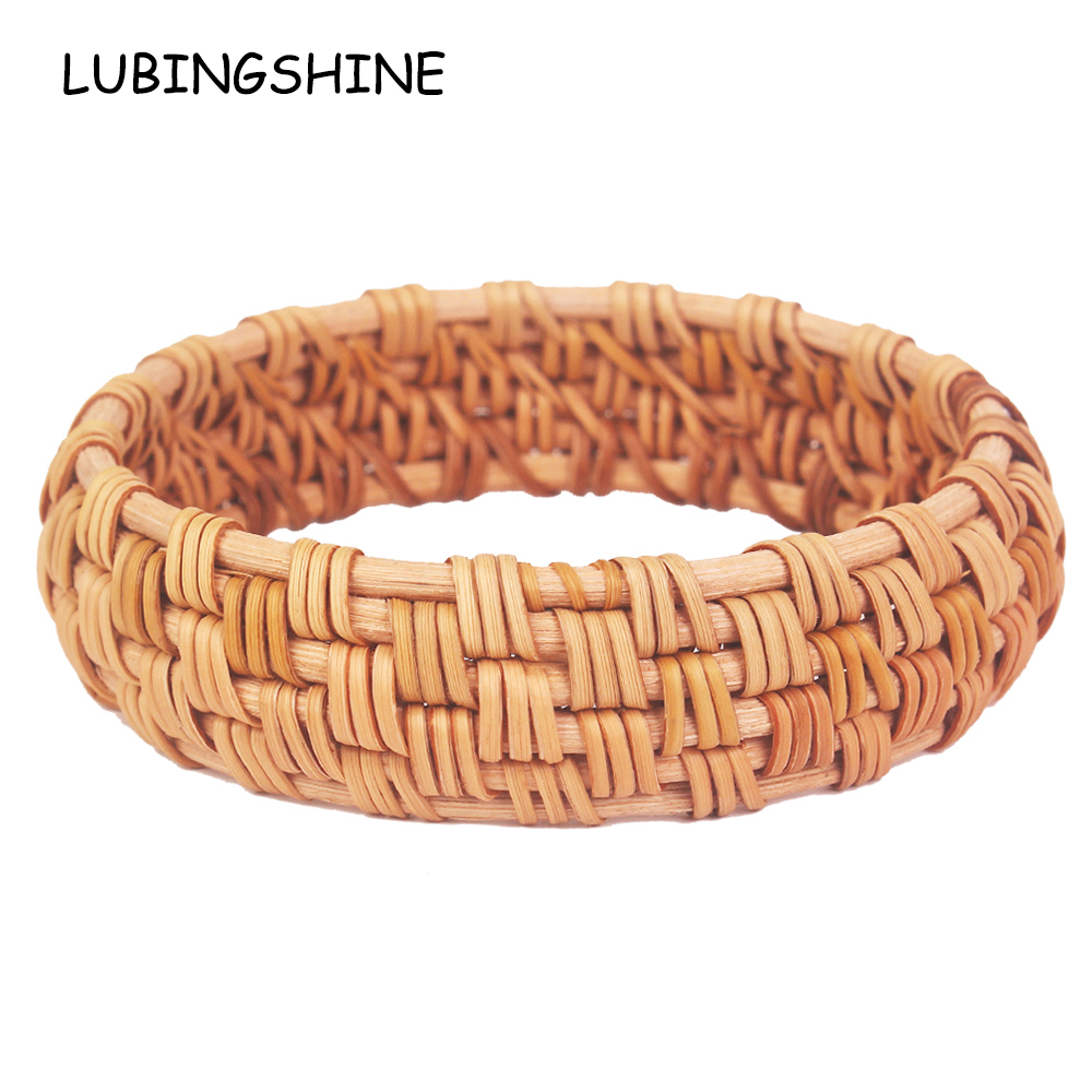 Jewelry & Accessories Bangles Cheap Sale Ethnic Handmade Wide Natural Plant Straw Rattan Weave Bangles Jewelry For Women Hip Hop Party Statement Jewelry Gift
