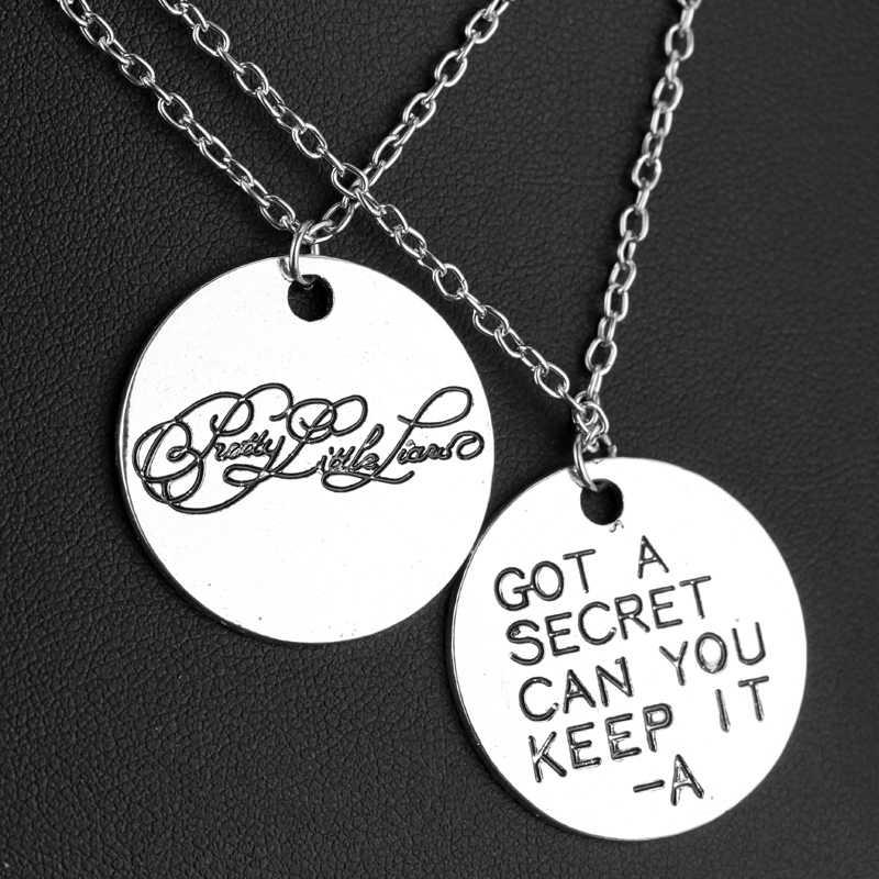 Pretty Little Liars สร้อยคอ Got A Secret Can You Keep It ตัวอักษรเงินจี้เครื่องประดับสำหรับผู้หญิงแฟชั่นอุปกรณ์เสริม