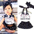 Newborn Baby Girl Clothes Tops Polka Dot Skirts 2pcs Outfits Set Sunsuit Baby Girls Clothes Set Girls Clothing Set 0-24M
