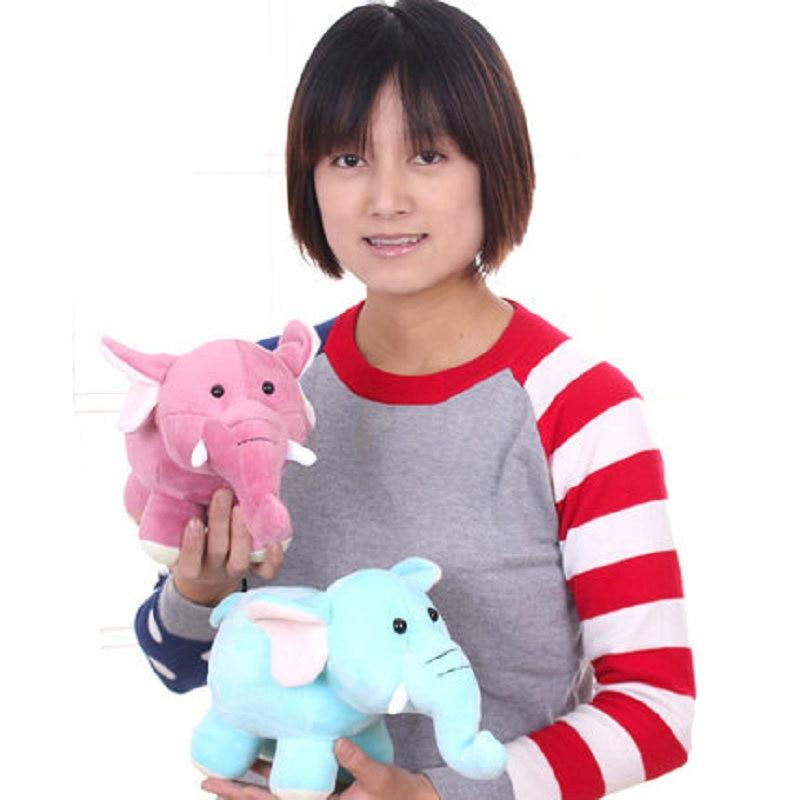 28cm wholesale small elephant doll stuffed Plush PP Cotton Standing elephant plush toys