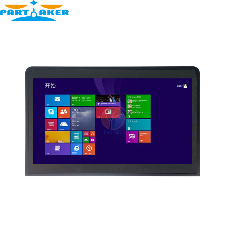 New 14 inch flat panel embedded industrial all in one touch screen mini pc with 10 point touch capacitive touch 1G RAM 24G SSD 14 inch oem touch screen all in one pc industrial embedded computer 8g ram 512g ssd 1tb hdd with intel celeron 1037u 1 8ghz cpu