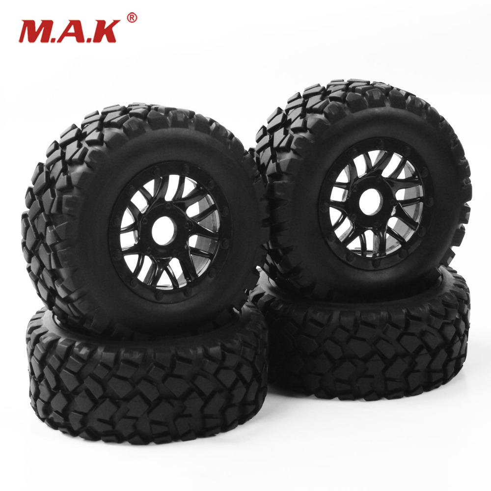 17mm Hex 1:10 Short Course Truck Tyre Wheel Rim With Adapter For TRAXXAS SLASH PP0339+PP1003K RC Car Parts Accessories 1 10 hq727 v2 traxxas slash short course truck parts number m0220 chassis