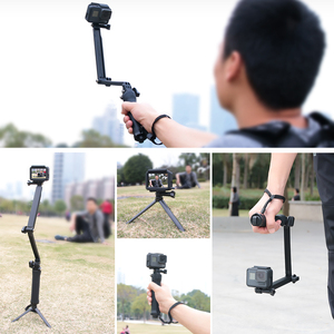 Image 5 - 3 דרך גריפ עמיד למים חדרגל Selfie מקל חצובה Stand עבור GoPro גיבור 7 6 5 4 מושב יי 4K Sjcam Eken Pro עבור אבזר