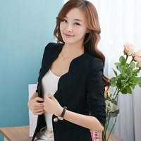 Spring OL Fashion Women Slim Blazer Coat Casual Jacket Long Sleeve One Button Suit Ladies Work Blazers 4