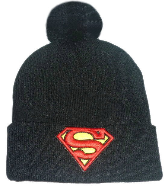 Newest superman beanie Hats with ball black   red top quality men s classic  beanies caps freeshipping ! 20bb8bf77f5