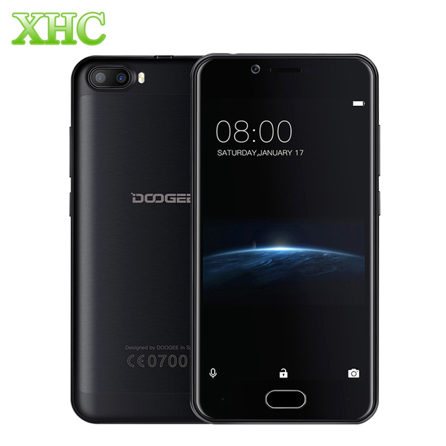DOOGEE Shoot 2 Android 7.0 MTK6580A Quad Core Smartphone 8GB Dual Rear Cameras 3G WCDMA DTouch Fingerprint 5.0 inch RAM 1GB