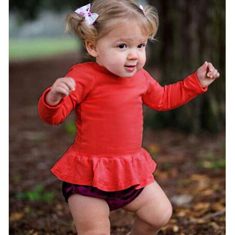 2019 Neue Baumwolle Frühling Mädchen Grundlegende Shirts Winter Rundhals Kragen T-shirt Für 4-24 Monate Baby Mädchen Lange Hülse Kleidung Durchblutung GläTten Und Schmerzen Stoppen
