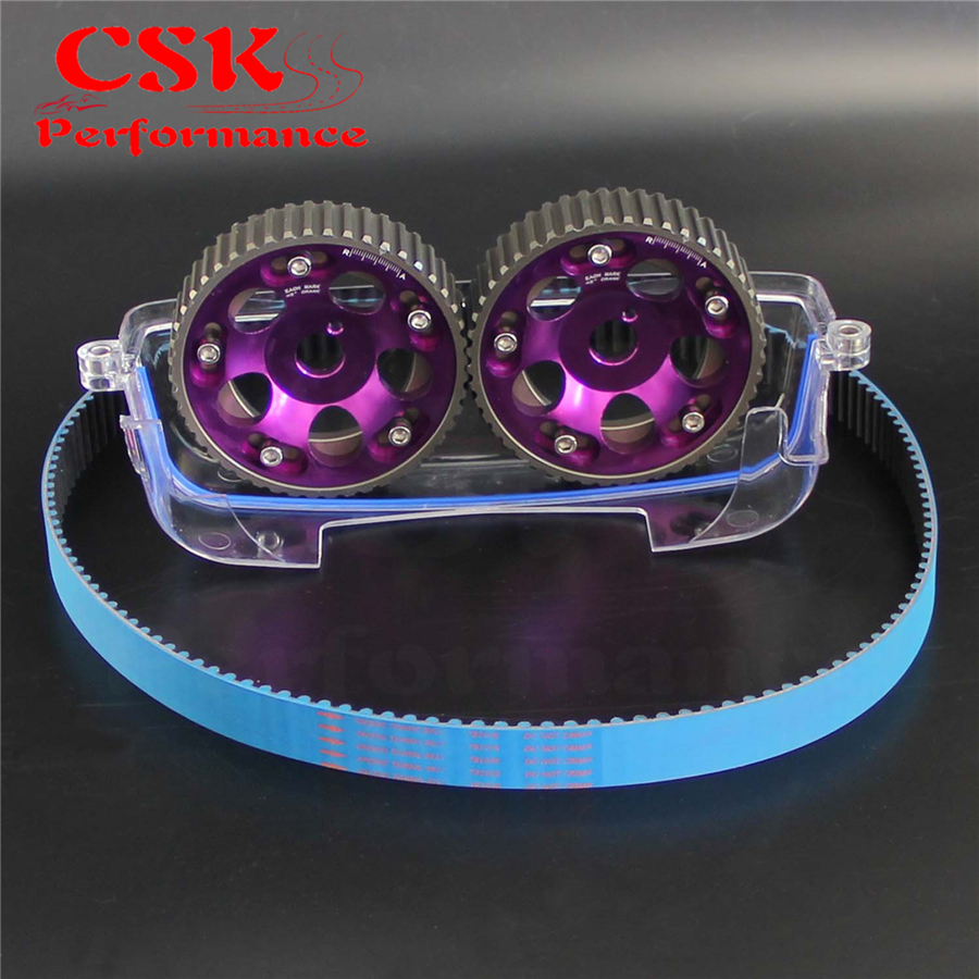 Timing Belt + Cam Cover + Cam Gear Pulley Kit Fits For Toyota MARK IV 2JZ-GTE 2JZ Purple/Red/Blue 1 inch stainless steel electric solenoid valve normally closed ip65 square coil water solenoid valve