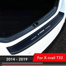 Protetor interno de fibra de carbono, acessório para carro nissan x trail x-trail t32 2017 2018 2019 tampa da guarnição 2014