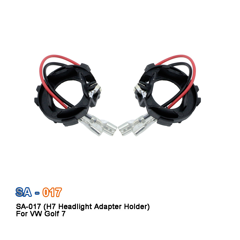 SAARMAT 2 * Buah Led H7 Mobil Headlight Bulbs Holder Adapter Basis Untuk Volkswagen Golf 7 Baru Touran Halogen upgrade ke LED ...