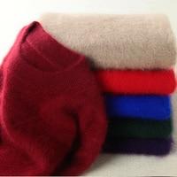 Fuzzy Mink Cashmere Sweater Women Plus Size O Neck Warm Fleece Sweater Pullover Jumpers 2018 Autumn Winter Basic Knit Tops