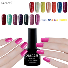 Sarness 3d Soak Off 8ml Neon Nail Gel Polish Glitter UV Colorful Nail Art Long-lasting Bling Nail Polish Hybrid Glue Varnish