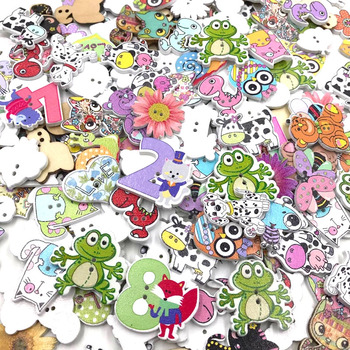 50pcs Animal Wooden Scrapbooking Clothing Decorative Buttons for DIY Crafts Sewing accessories Butterfly Owl Buttons WB421 multicolor 50pcs 2 holes mixed animal wooden decorative buttons fit sewing scrapbooking crafts