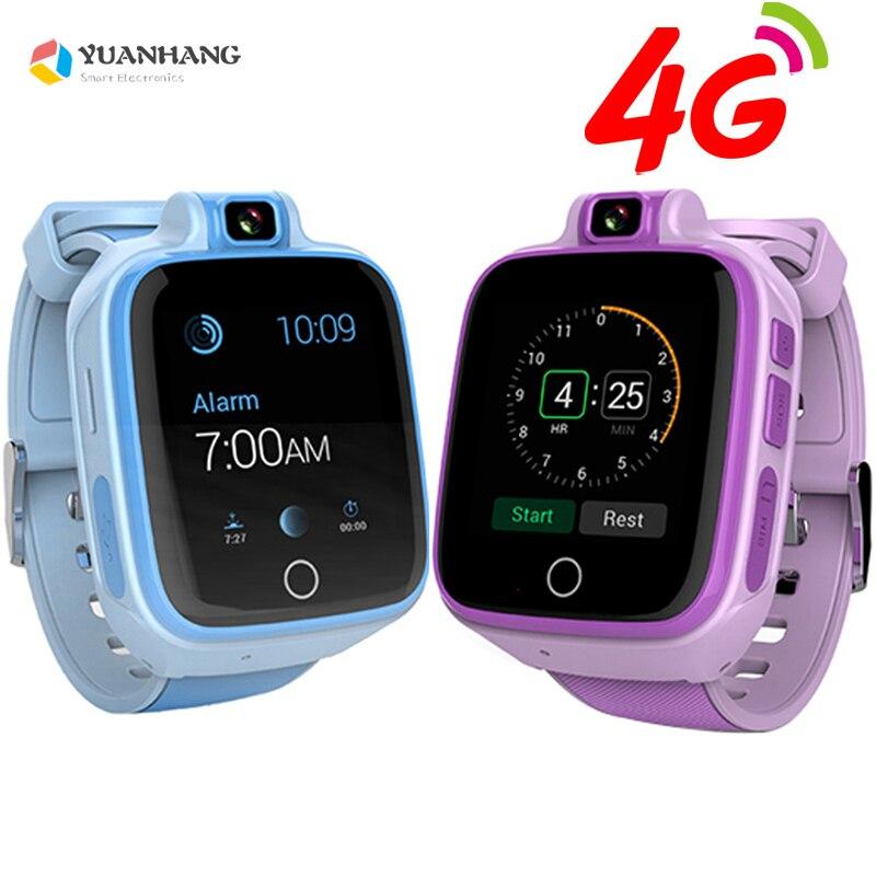 Caméra à distance GPS Tracker Emplacement Enfant Enfant Étudiant 4g Montre-Bracelet Intelligente SOS Whatsapp Appel Vidéo Moniteur D'alarme Android 6.0 montre
