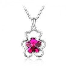 Austrian Crystal Bear Necklaces