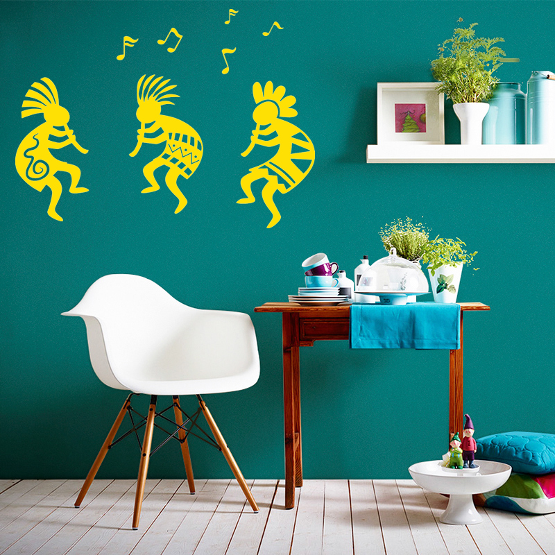 2017 Hot SOUTHWEST KOKOPELLI Lee Ethnic Tribal Music To Celebrate The Art Vinyl Wall Stickers Home Decor Home Decor Art DIY