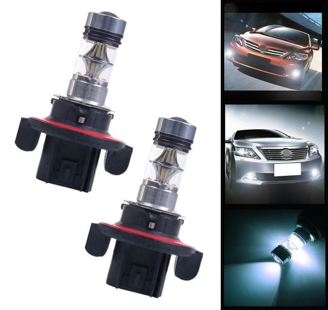 2X H13 9008 100W Projector 20 SMD Bulbs Car Headlight Fog Driving DRL Led