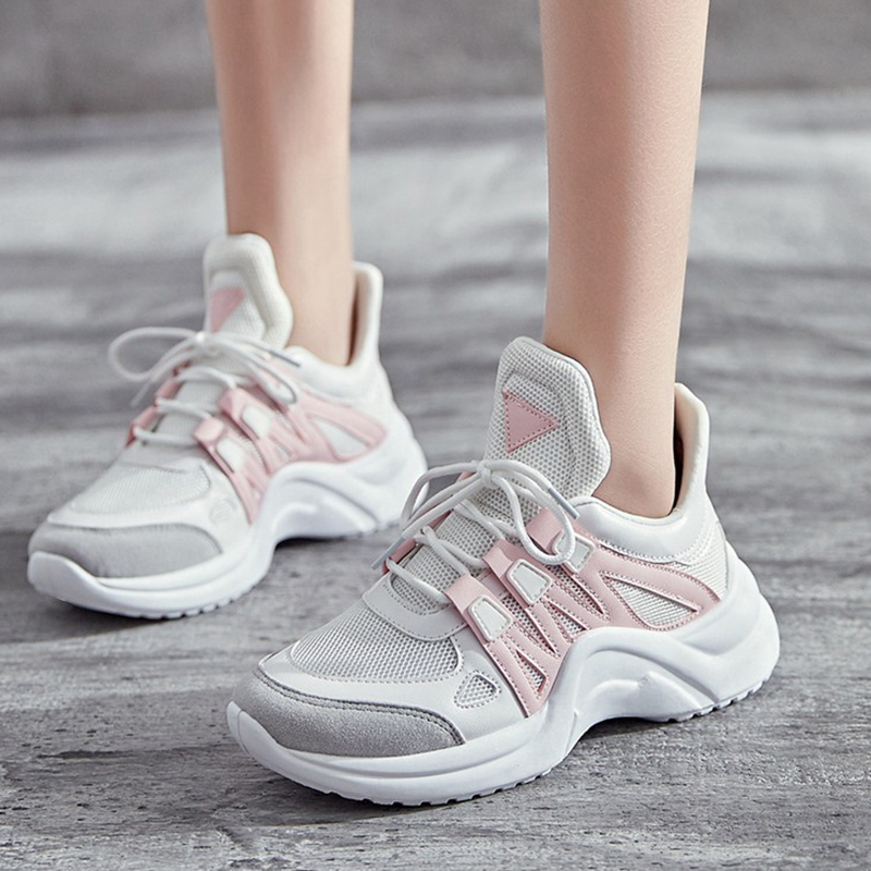Women Shoes 2019 Hot Sale Fashion Tenis Feminino Breathable Mesh Platform Dad Shoes Woman Casual Vulcanize Shoes Chunky Sneakers