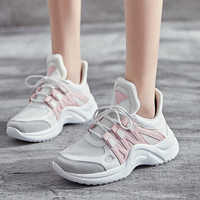 c42ce43a Женская обувь, лидер продаж 2019 года, модные теннисные туфли с дышащей  сеткой на платформе