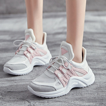 Papá Mujer Vulcanize Caliente De Gruesas Zapatillas Tenis 2019 Moda Casual Venta Feminino Zapatos Plataforma Malla Transpirable AR54qLcj3