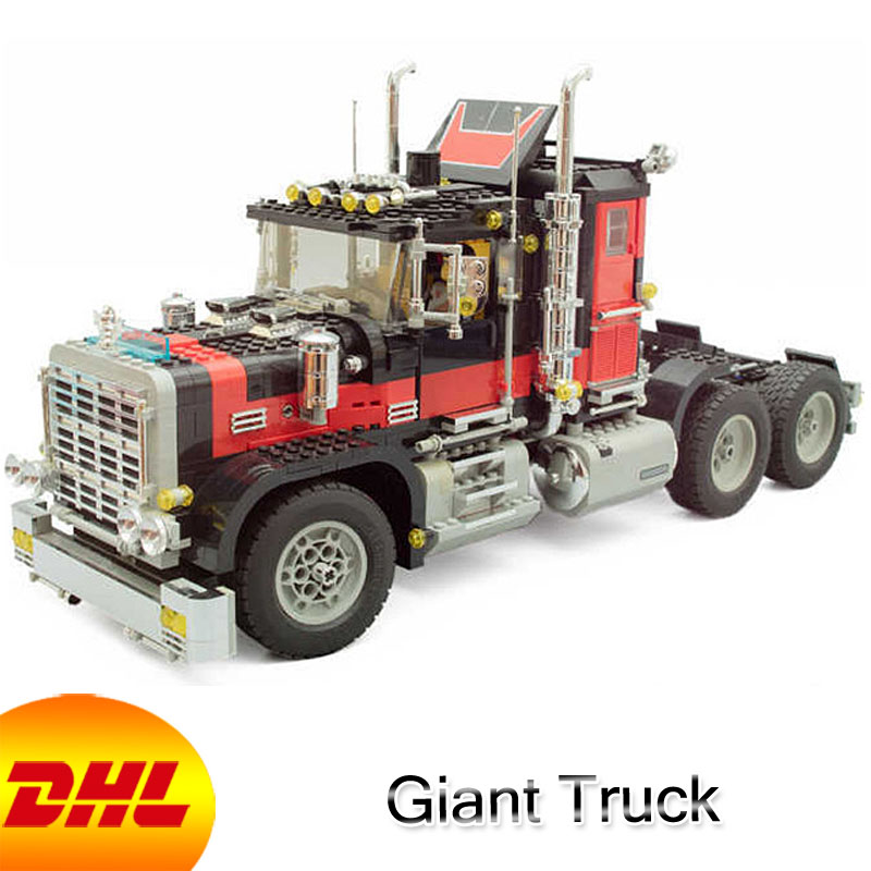 HF Technic Figures 1743Pcs Giant Truck Model Building Kits Blocks Bricks Educational Toys For Children Gift Compatible With 5571 10646 160pcs city figures fishing boat model building kits blocks diy bricks toys for children gift compatible 60147