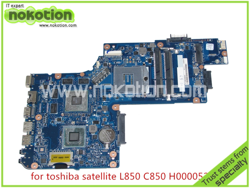NOKOTION H000052560 Laptop Motherboard for toshiba Satellite L850 C850 Intel DDR3 HD4000 216 0810028 ATI Graphics