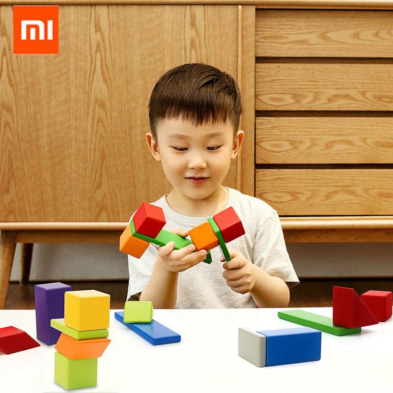 Оригинальный Xiaomi Mijia Миту Магнитный строительный блок робот Mitu магнитные игрушечные блоки дизайнерские магнитные игрушки Детский подарок ...
