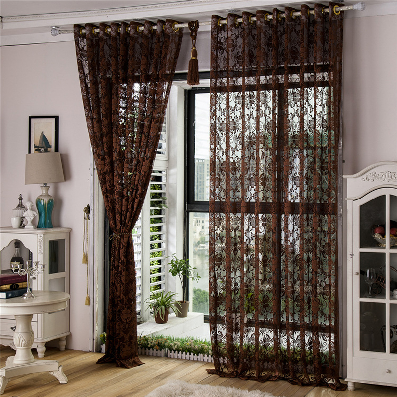 curtains for small living room windows european style jacquard curtains for living room windows 24931