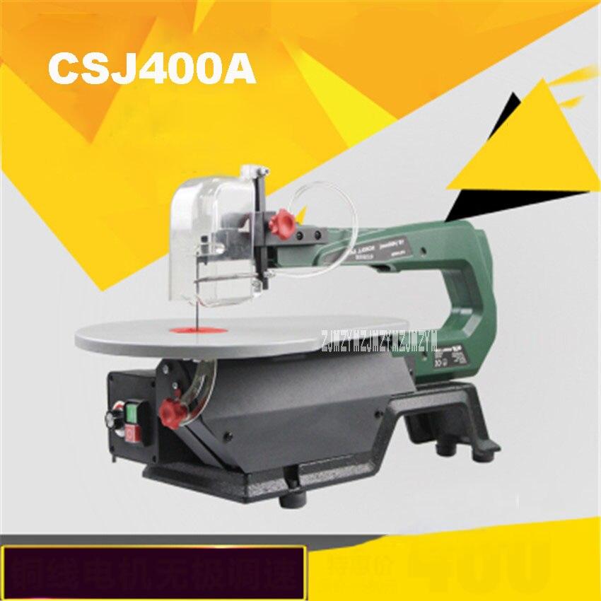CSJ400A Machine à scier de bureau multi-fonctionnelle outils électriques pour le travail du bois tirer fleur sculpté fleurs fil courbe scies 220 v 120 W