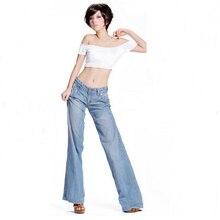 2015 Новый Леди Моды Личности Моды Хлопок Удобные Прямые Высокого Класса Леди Расширяющиеся Джинсы, леди Бренда Джинсы Длинные