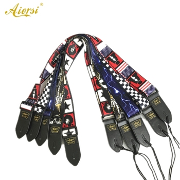 Aiersi Brand Wholesale Price Different Pattern Padding Straps For Electrical Guitar And Bass Model 114