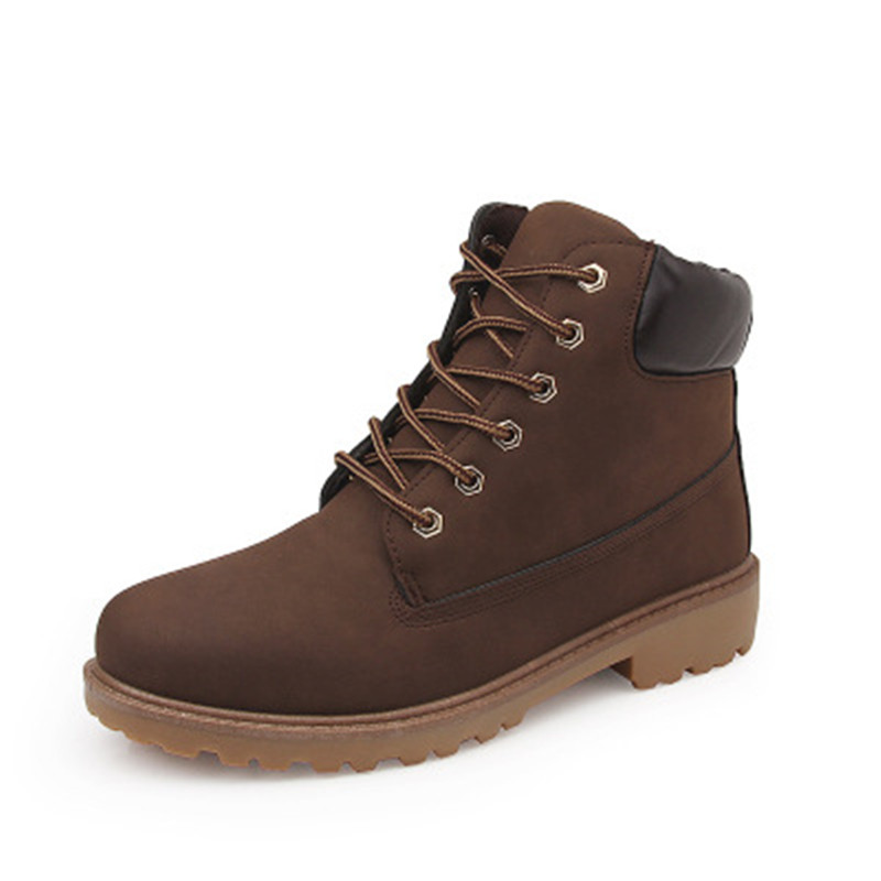 Losver Boys Winter Leather Boots Beige