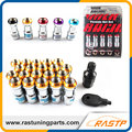 RASTP - 20 Pcs/Pack Volk RAYS Racing Formula Nut Set Wheel Lug Nut M12x1.5 or M12x1.25 Black Red Gold Purple  LS-LN001