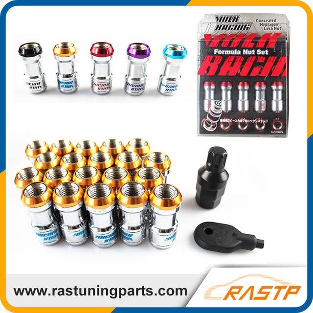 RASTP - 20 Pcs/Pack Volk RAYS Racing Formula Nut Set Wheel Lug Nut M12x1.5 or M12x1.25 Black Red Gold Purple  LS-LN001