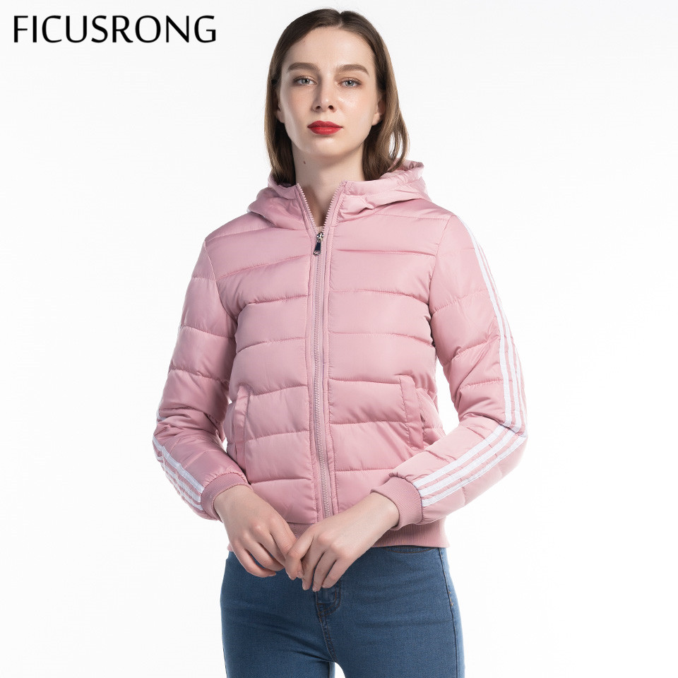 Women Autumn Winter Hooded   Basic     Jacket   Coat 2019 New Fashion Full Sleeve Warm Slim Parkas Outwear Tops Female FICUSRONG