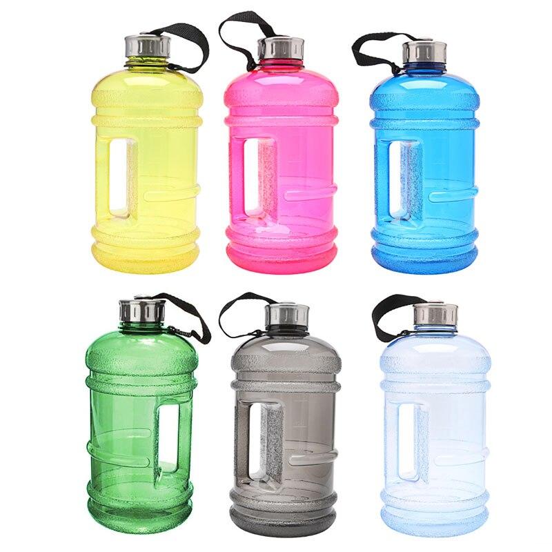 2.2L Big BPA Free Sports Gym Training Drink Water Bottle Cap Kettle Workout US