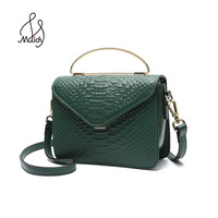 Famous Brand Serpentine Alligator Handbags Small Women Flap Bags Crossbody Lock Shoulder Genuine First Layer Of Cowhide Leather