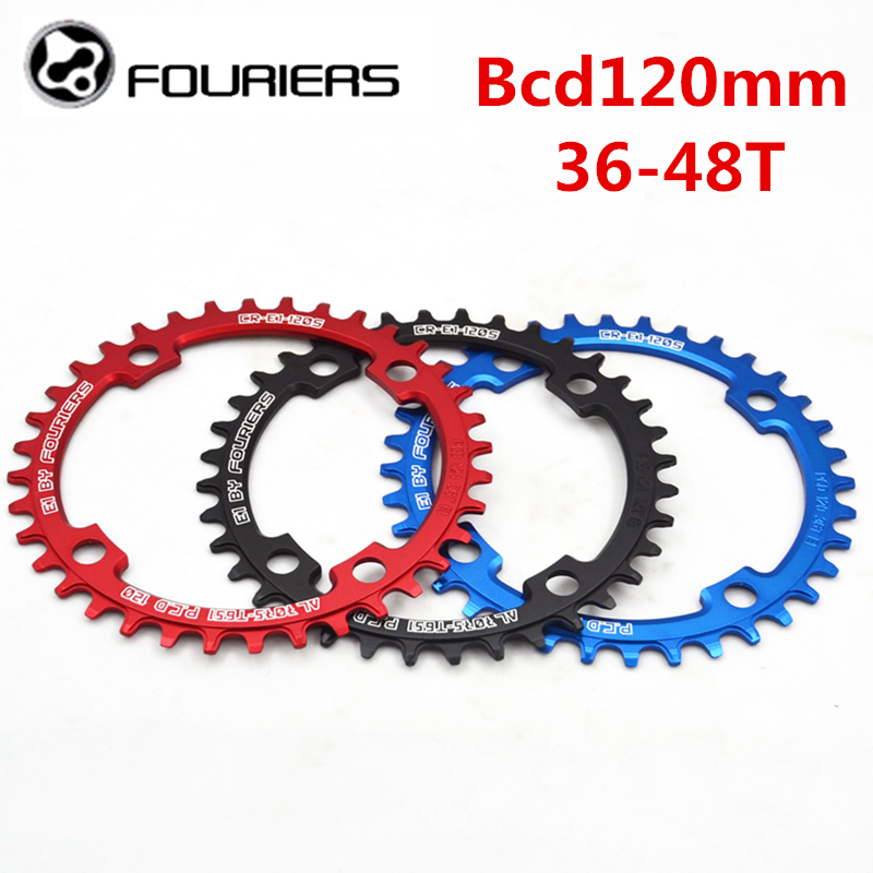 FOURIERS 120BCD Round Shape Narrow Wide Chainring 36T/38T/40T/42T/48T MTB Bicycle Chainwheel Bike Crankset Bicycle Parts