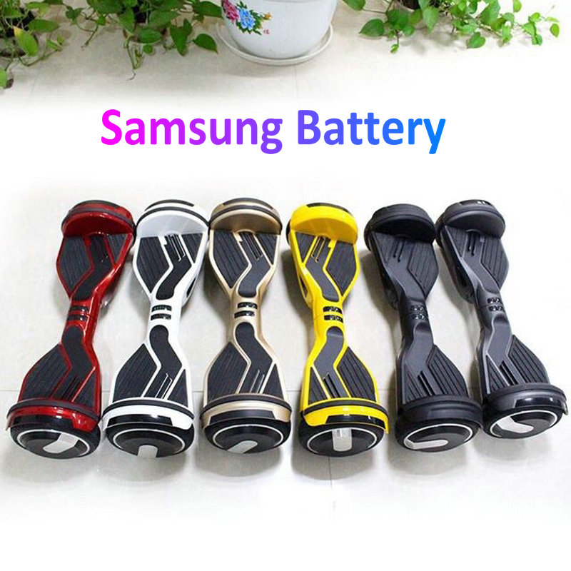 Hot 6 5 inch Electric Self Balancing Scooters Two Wheel Smart Scooters Skateboard Hoverboard Balance Board