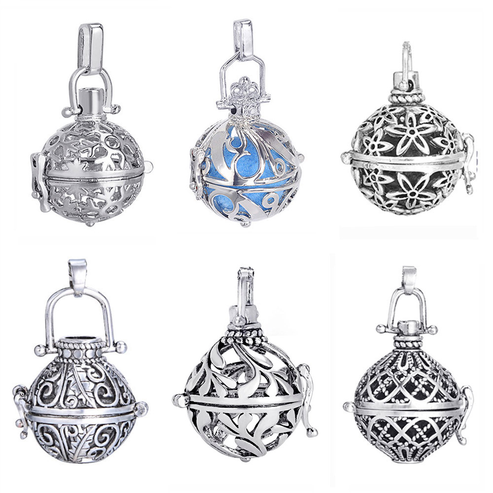 1pc Cage Music Ball Prenatal Edutation Baby Aromaterapi Essential Oil Diffuser Halskæde Locket Vedhæng Til DIY Graviditet