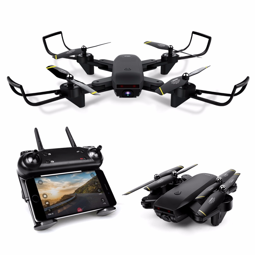 Drone with Camera WIFI FPV Quadcopter with 720P HD Camera Live Video Headless Mode 2.4GHz 4CH 6 Axis Gyro Foldable RTF RC Drone flytec t18d rc quadcopter mini drone 4ch wifi fpv 720p hd camera rc drones height hold mode 6 axis ufo rtf drone with camera