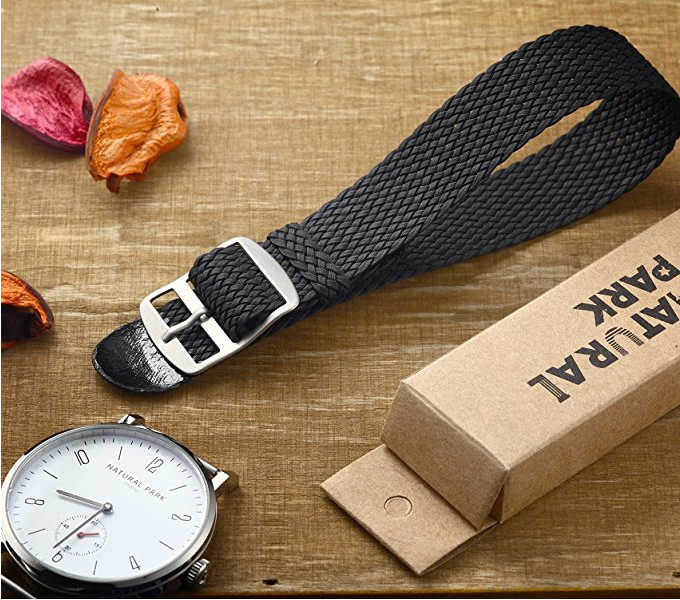 20mm Multiple Colors Fashion Casual Nato Nylon Military Watch Strap Army Sport Watchband Natural Park Hand-woven 2018 Black