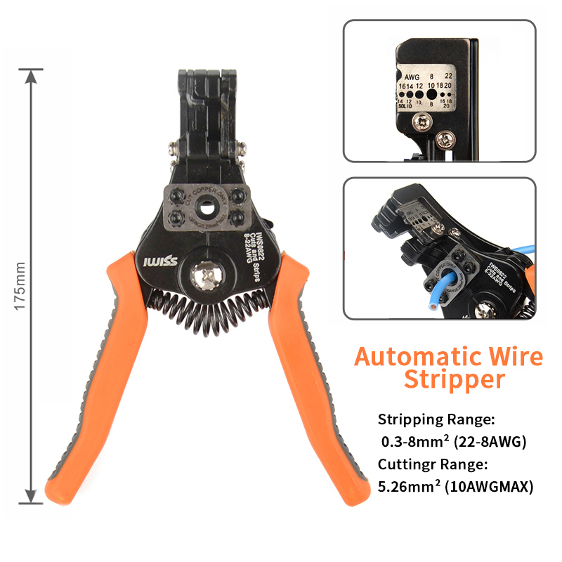 2mm Electrician  Wire Stripper Multifunctional Stripper Multi Cutters Automatic 0 Stripping Function  Wire Pliers  8  Wire 35 Cable