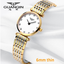 цена на GUANQIN Women Watches Luxury Top Brand Watch Casual Fashion Ultra thin 6mm design Gold Silver Steel Dress Quartz Girl Watches