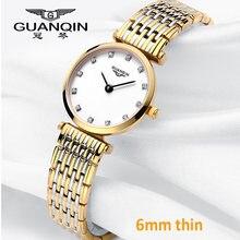 Часы guanqin женские кварцевые роскошные Брендовые повседневные