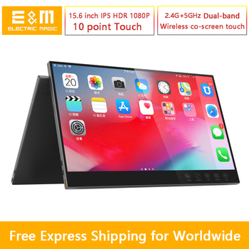 15.6 inch 1080P HDR IPS Wireless Touch Portable Monitor for Phone iOS Android Type C Connect to Xbox Game Screen NS PS4 Display