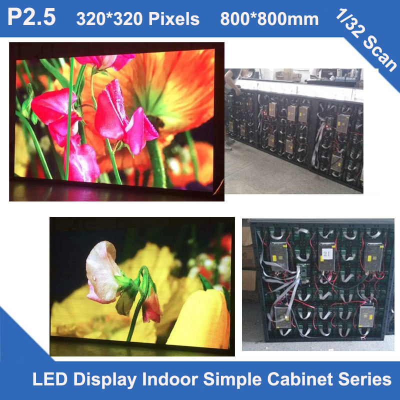 TEEHO New Trend P2.5 indoor simple iron Cabinet 800mm*800mm 320*320 dots 1/32 scan video led screen fixed wedding schoolTEEHO New Trend P2.5 indoor simple iron Cabinet 800mm*800mm 320*320 dots 1/32 scan video led screen fixed wedding school