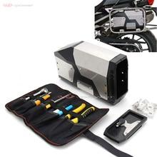 Caixa de ferramentas para motocicleta, caixa de ferramentas de aço inoxidável para bmw, r1200gs, lc/adv, r1250gs adventure f750gs, f850gs