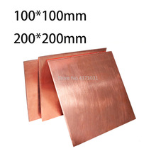 1pc 99.9% Copper Sheet Plate DIY Handmade material Pure Copper Tablets DIY Material for Industry Mould or Metal Art 100x100mm