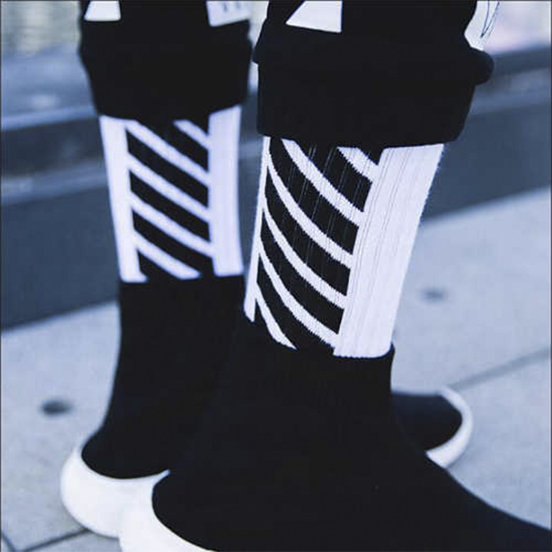 Winter Warm Wear Resistant White For Stylish Casual Socks Crew Socks Men Cotton Breathable Short Blend Elastic Christmas Sox
